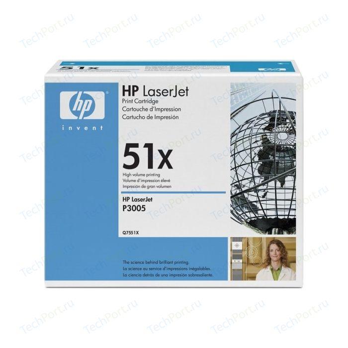 Картридж HP Q7551X картридж hp q7551a для hp lj p3005 m3035 m3027 черный