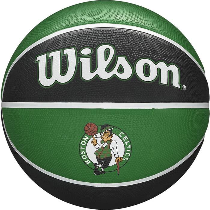 Мяч баскетбольный Wilson NBA Team Tribute Boston Celtics, WTB1300XBBOS, р.7, зелено-черный