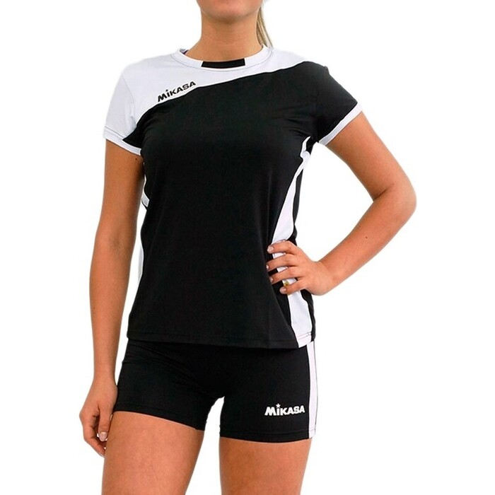 Форма волейбольная женская Mikasa MT375-046-S, р. S, 90% полиэстер 10% эластан, черно-белый