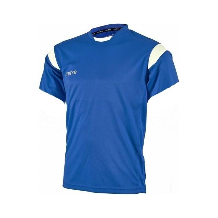 Футболка игровая Mitre MOTION T70001RH2-S р. S 100% полиэстер, сине-белый