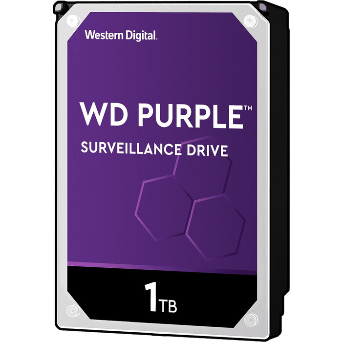 Жесткий диск WD SATA3 1Tb Purple Video IntelliPower 64Mb (WD10PURZ)