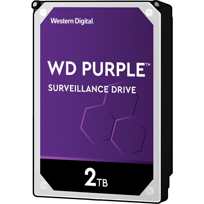 Жесткий диск WD SATA3 2Tb Purple Video IntelliPower 64Mb (WD20PURZ)