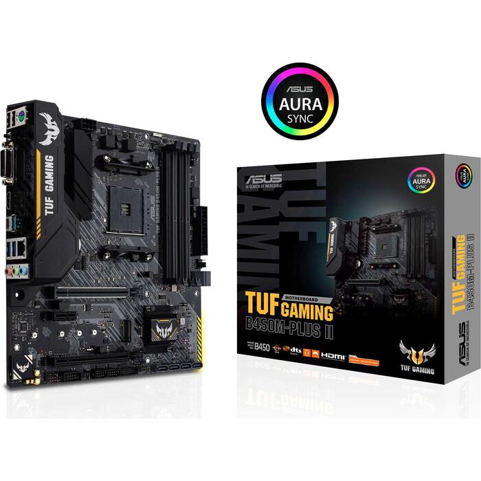 asus tuf h310m plus gaming Материнская Плата Asus TUF GAMING B450M-PLUS II Soc-AM4 (TUF GAMING B450M-PLUS II)