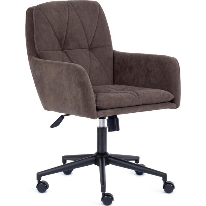 Кресло TetChair Garda флок коричневый 6
