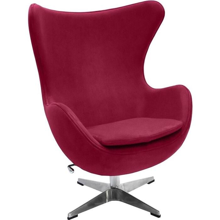 Кресло Bradex Egg chair винный, искусственная замша