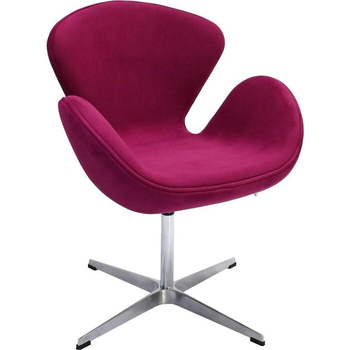 Кресло Bradex Swan chair винный, искусственная замша