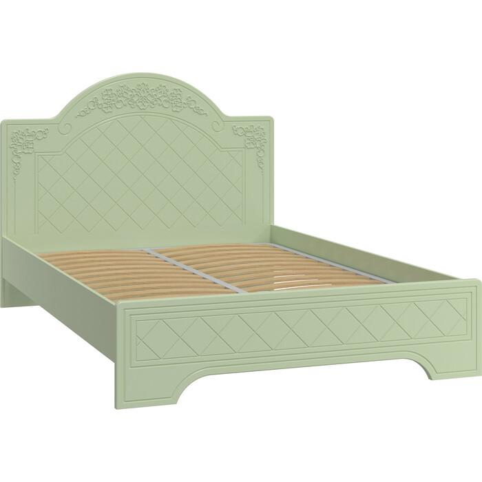 Кровать Compass Соня Премиум СО-322К с ламелью и опорами зеленый/силк грасс
