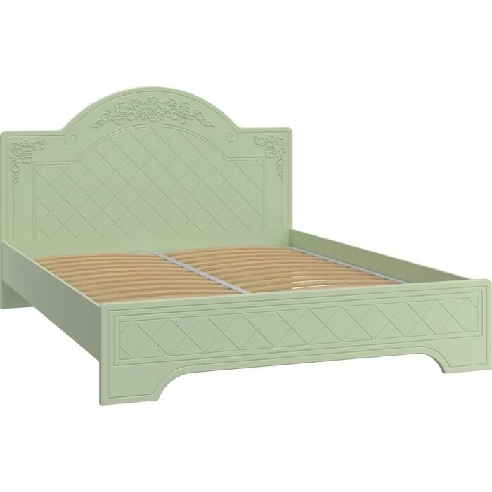 Кровать Compass Соня Премиум СО-323К с ламелью и опорами зеленый/силк грасс