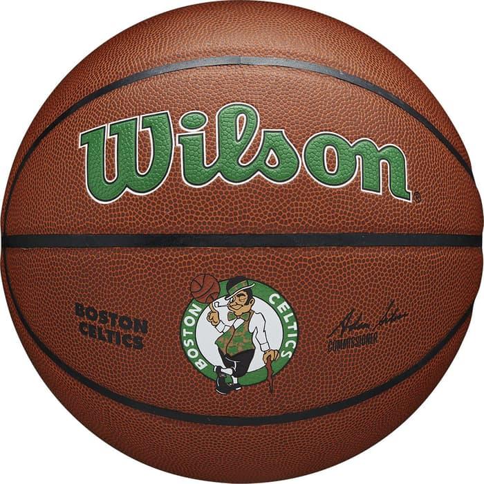 Мяч баскетбольный Wilson NBA Boston Celtics, арт. WTB3100XBBOS р.7, синт.кожа (композит), коричневый