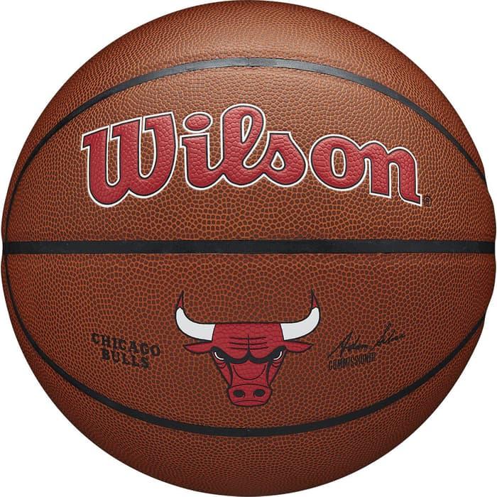 Мяч баскетбольный Wilson NBA Chicago Bulls, арт. WTB3100XBCHI р.7, синт.кожа (композит), оранжевый