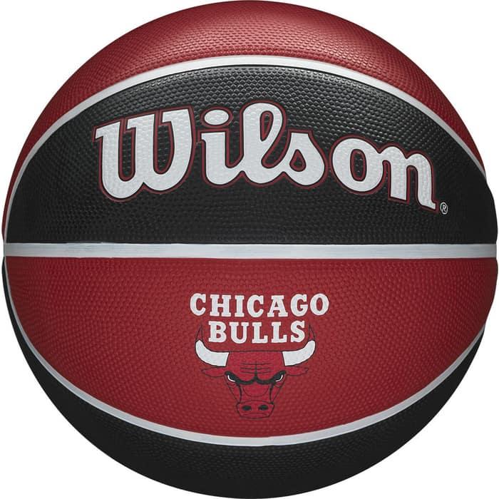 Мяч баскетбольный Wilson NBA Team Tribute Chicago Bulls, арт. WTB1300XBCHI, р.7, резина, красно-черный