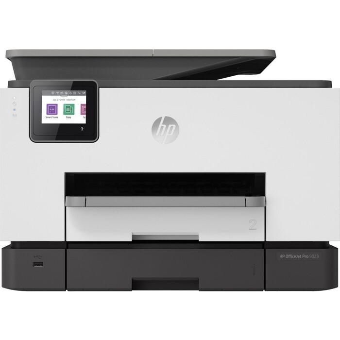 Фото - МФУ струйный HP Officejet Pro 9023 AiO (1MR70B) мфу струйный hp smart tank 500 aio a4 цветной струйный черный [4sr29a]