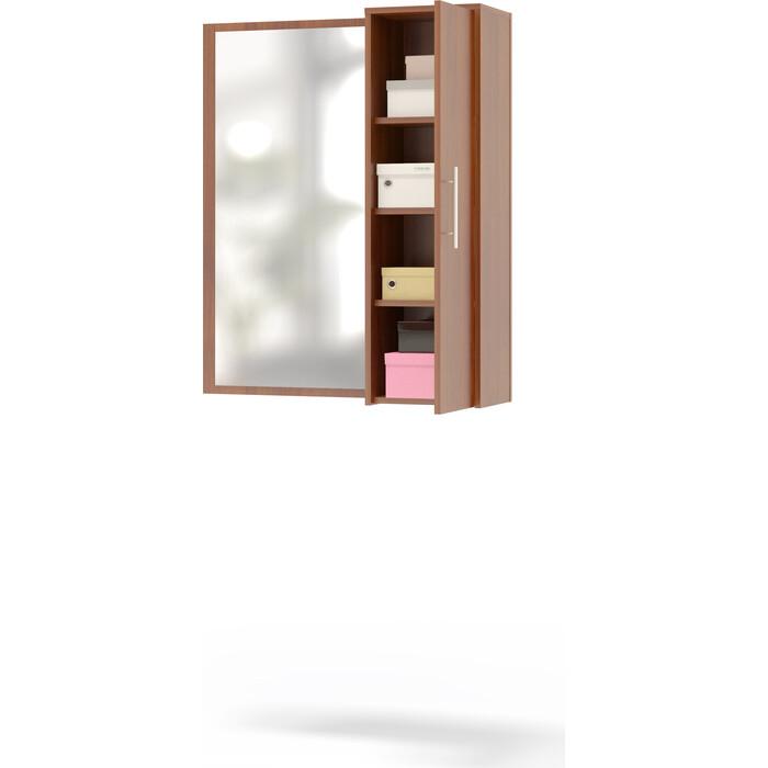 Шкаф настенный СОКОЛ ПЗ-4 испанский орех с зеркалом