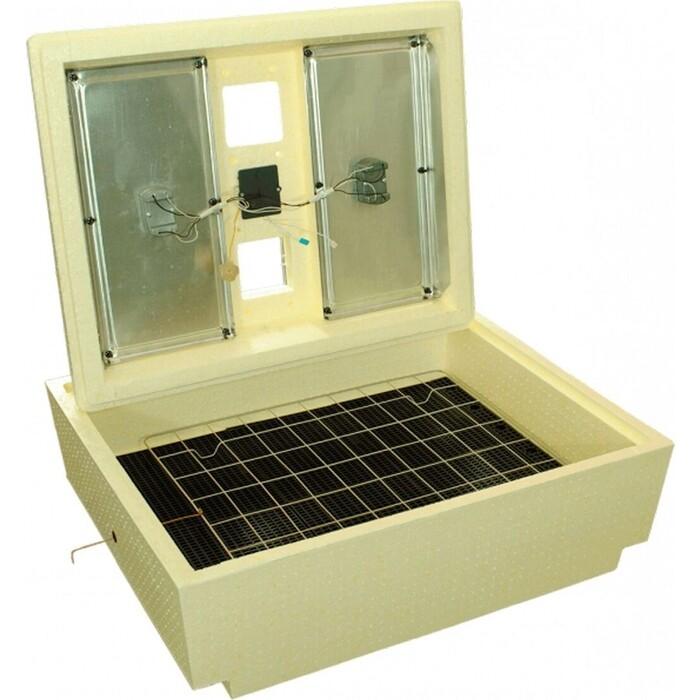 Инкубатор Золушка ИК 70/220В/12В (М) механический поворот, решетки для куриных и гусиных яиц