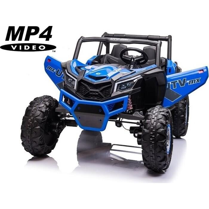 Детский электромобиль XMX Багги (синий, MP4, EVA, 4WD, 24V) - XMX613-4WD-24V-BLUE-MP4