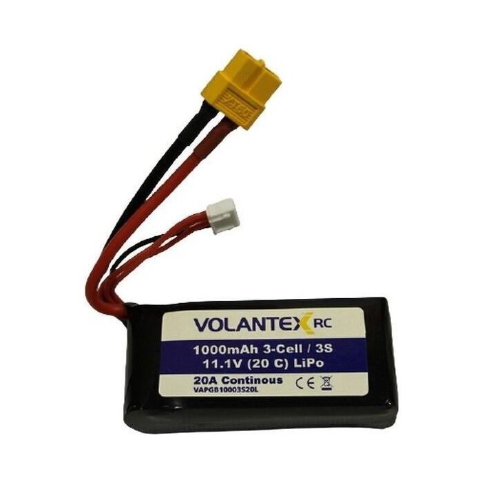 Аккумулятор Volantex Li-Po 1000mAh, 11,1V XT60 для катера Vector SR48 - PB3109