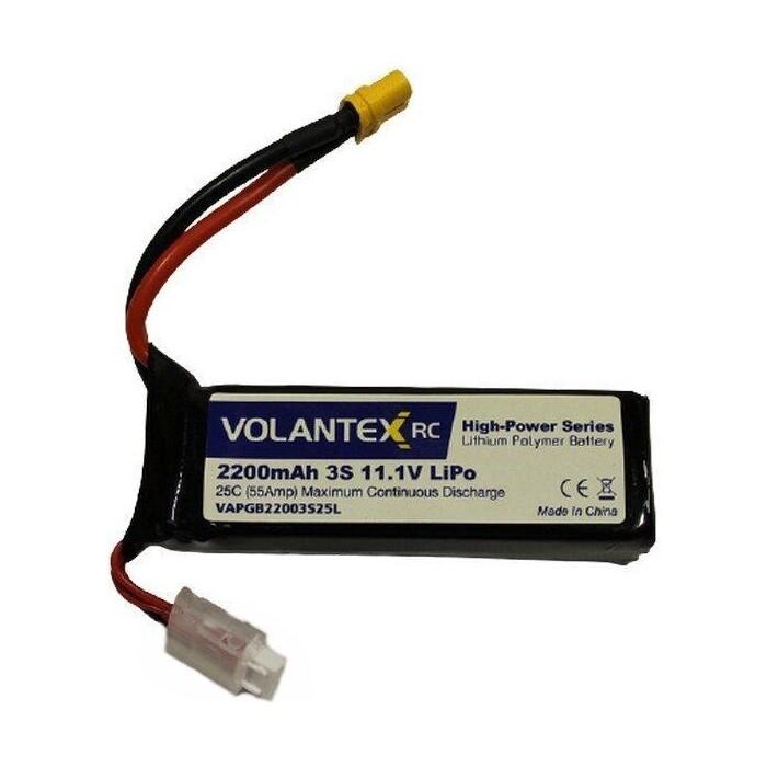 Аккумулятор Volantex Li-Po 2200mAh, 11,1V XT60 для катера Vector SR65 - PB3112