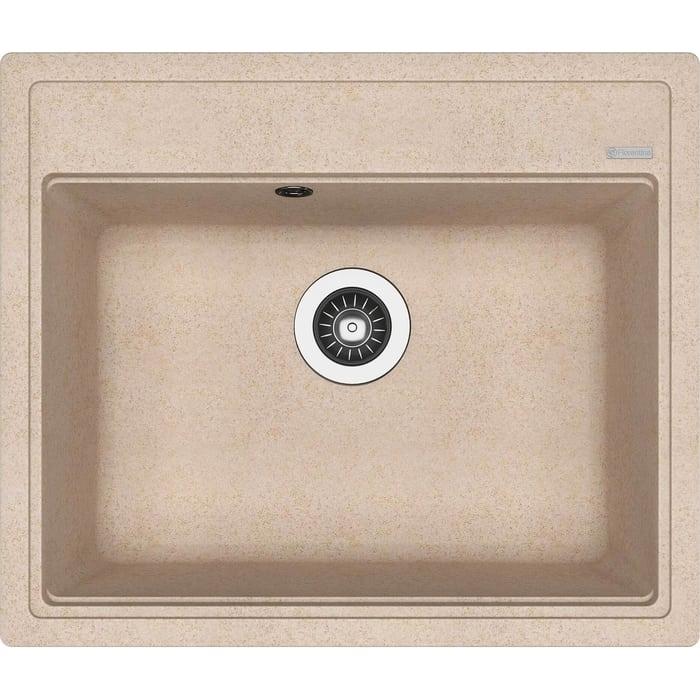 Фото - Кухонная мойка Florentina Липси 600 песочный Fg (20.120.D0600.107) врезная кухонная мойка 76 см florentina нире 760к fg песочный