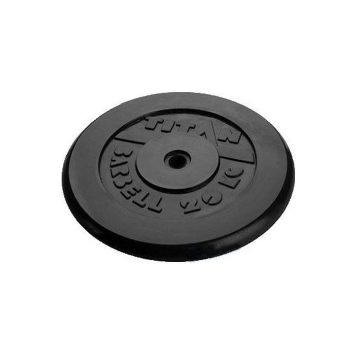 Диск обрезиненный Titan 26 мм. 20 кг. черный