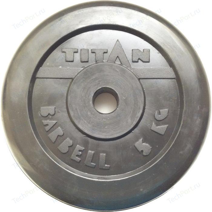 Диск обрезиненный Titan 26 мм. 5 кг. черный
