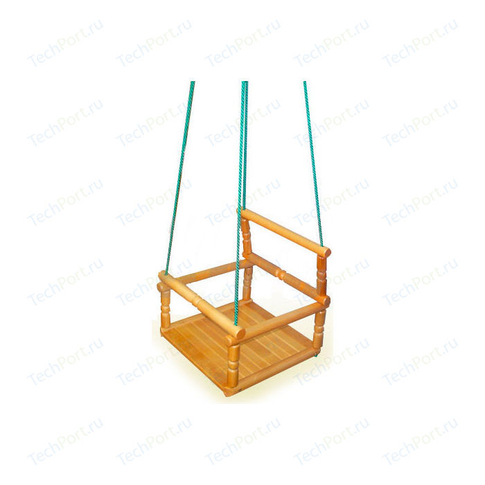 Качели КМС деревянные веревочные (детские)