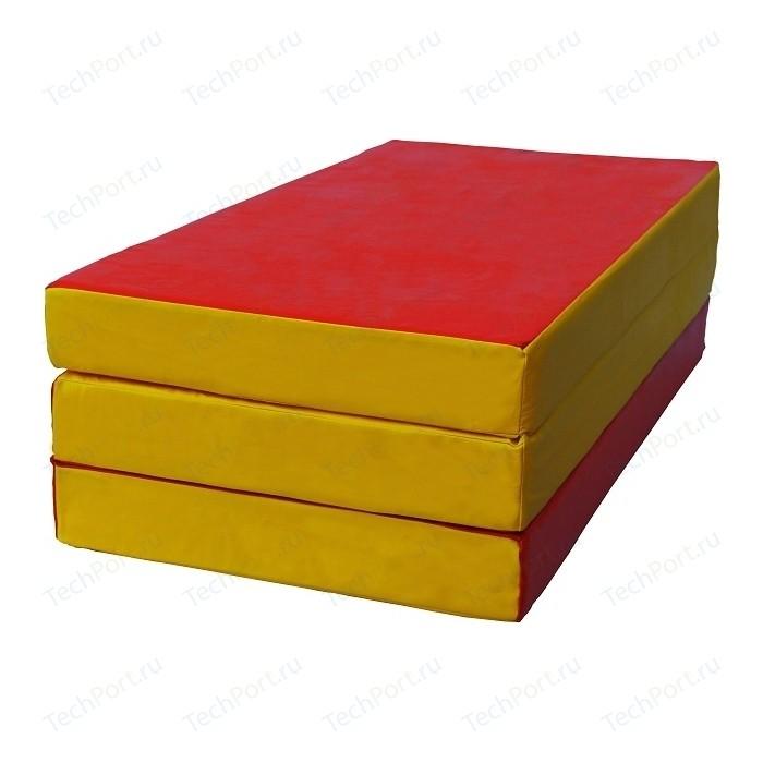 Мат КМС № 4 (100 x 150 10) складной красно-жёлтый