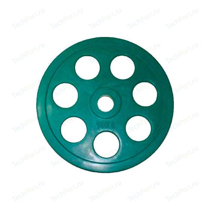 Диск олимпийский Евро-Классик 51 мм. 10 кг. зеленый с хватом Ромашка