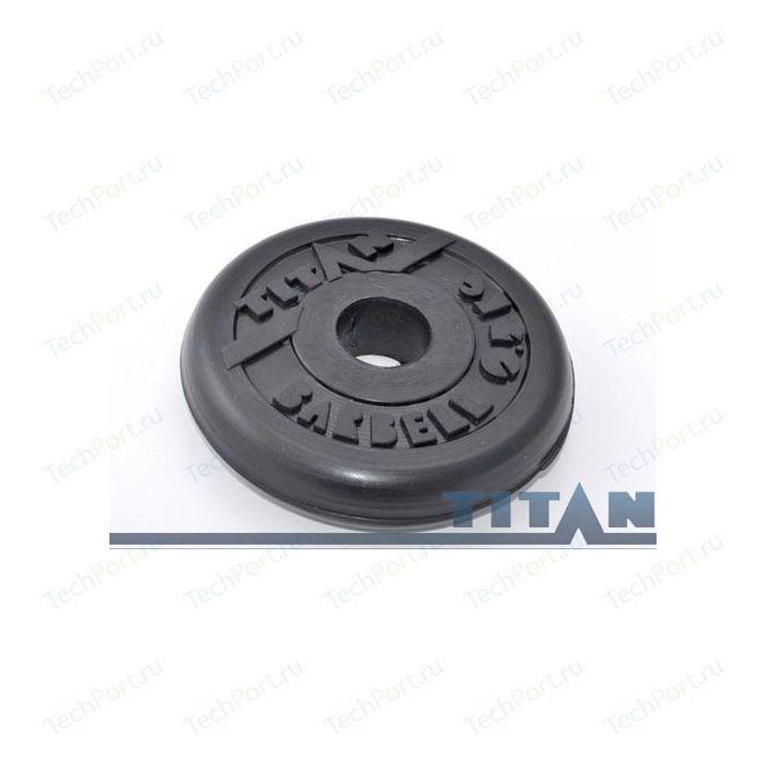Диск обрезиненный Titan 26 мм. 25 кг. черный