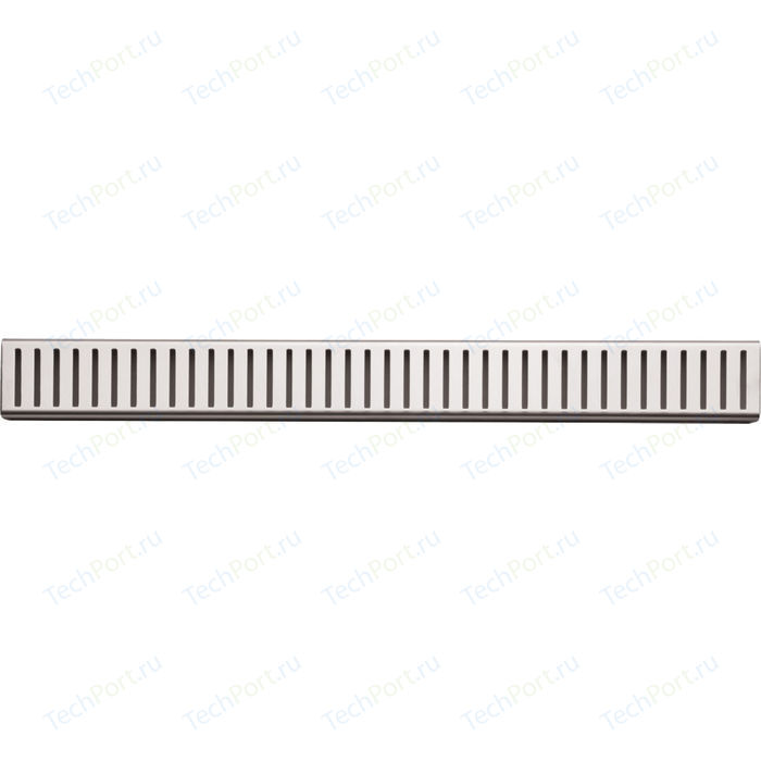 Решетка AlcaPlast Pure нержавеющая сталь глянцевая (PURE-750L)