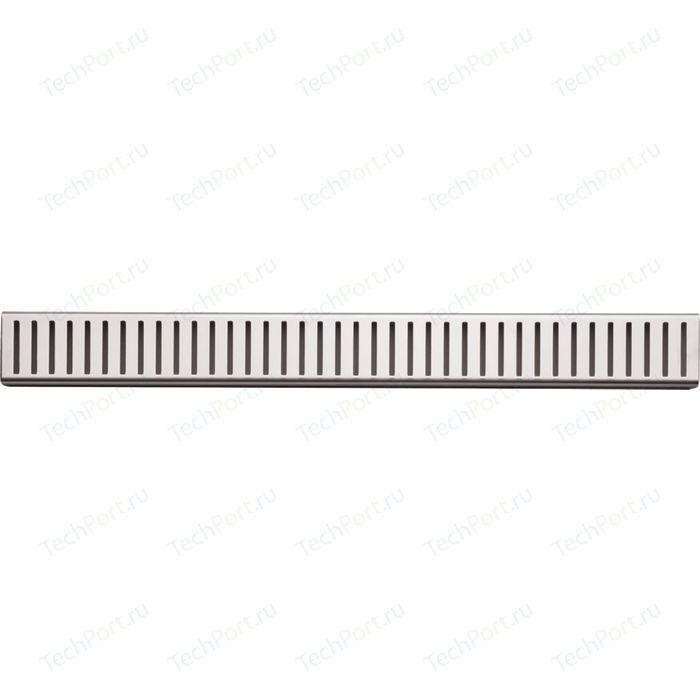 Решетка AlcaPlast Pure нержавеющая сталь матовая (PURE-850M)