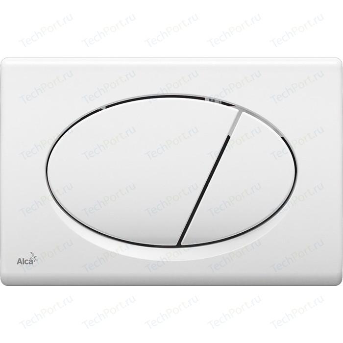 Кнопка смыва AlcaPlast белая (M70)
