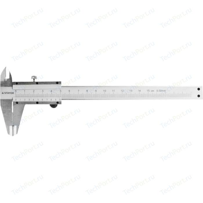 Штангенциркуль Stayer 150мм двусторонний с глубиномером нержавеющая сталь (3442)