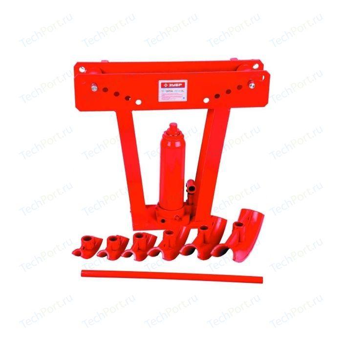 Набор Зубр Эксперт трубогиб гидравлический 12т ход штока 232мм 6 насадок (43078-12)