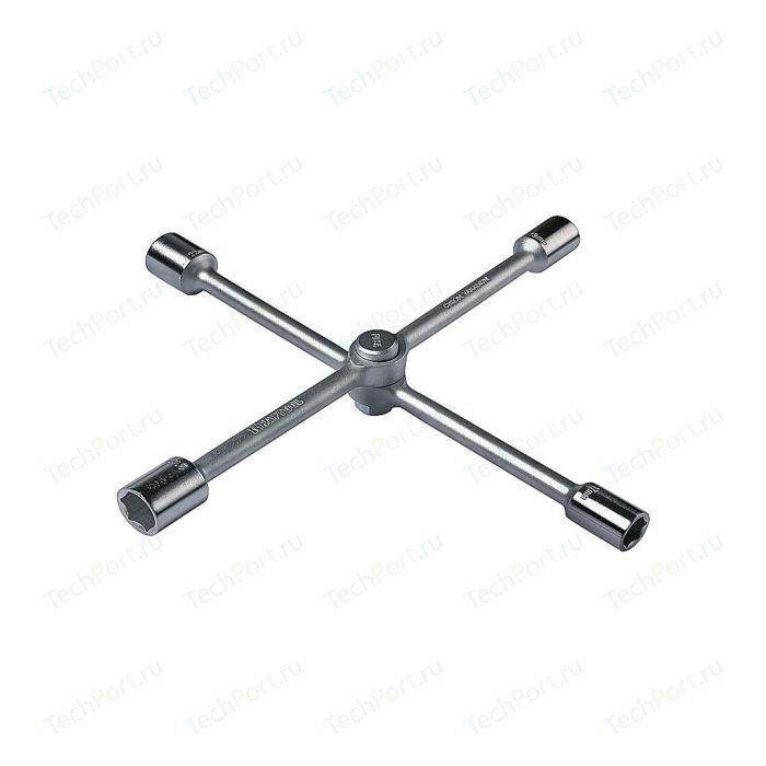 Ключ баллонный Kraftool автомобильный хромированный складной 17-19-21-22мм (27574)