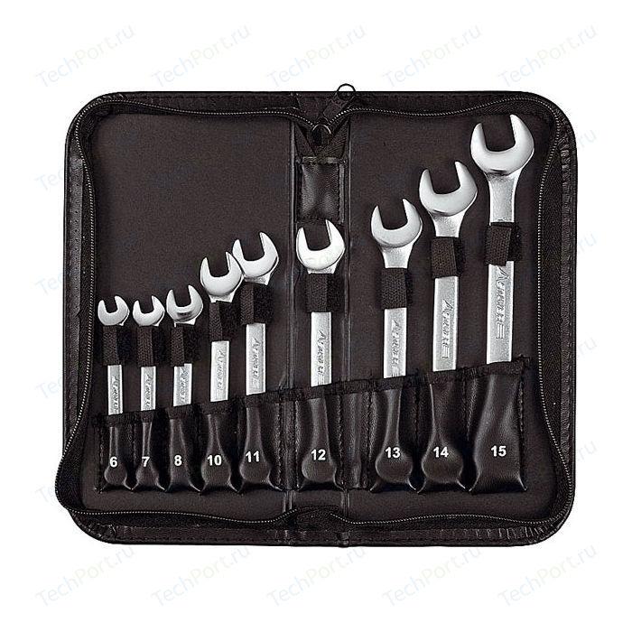 Набор ключей комбинированных Stayer 6-15мм 9шт Professional (2-271252-H9) набор комбинированных гаечных ключей в чехле 6 шт skrab 44046 8 17 мм