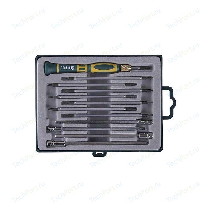 Отвертки для точных работ Kraftool с насадками 12 предметов (25611-H12)