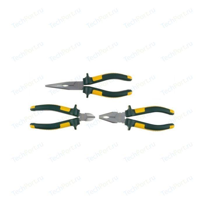 Набор губцевых инструментов Kraftool Kraft-Max Cr 3 предмета (22011-H3) бокорезы kraftool kraft max 22011 5 20 200 мм зеленый желтый
