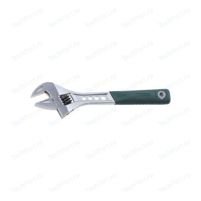 Ключ разводной Kraftool Cr-V двухкомпонентная рукоятка 12/300мм (27265-30) ключ разводной kraftool 27265 37