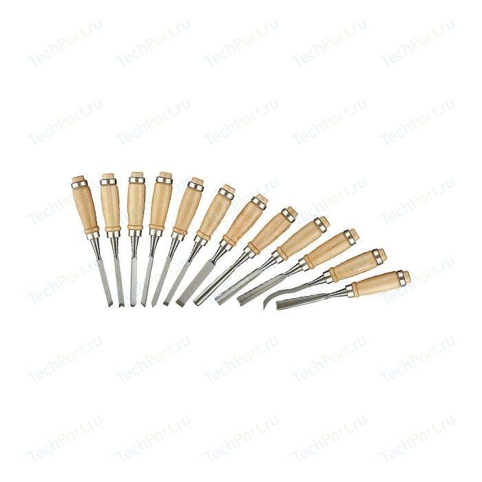 Набор стамесок Stayer 12шт с деревянной ручкой Profi (1835-H12_z01) материал укрывной stayer profi универсальный водонепроницаемый 3 х 5 м