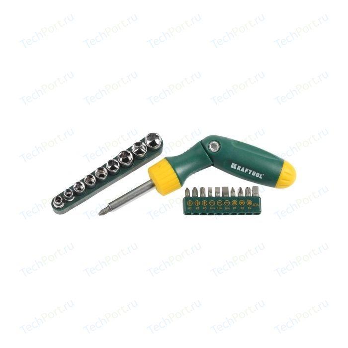 Набор Kraftool отвертка Bit-Lock реверсивно-рычажная 21 предмет (26151-H21)