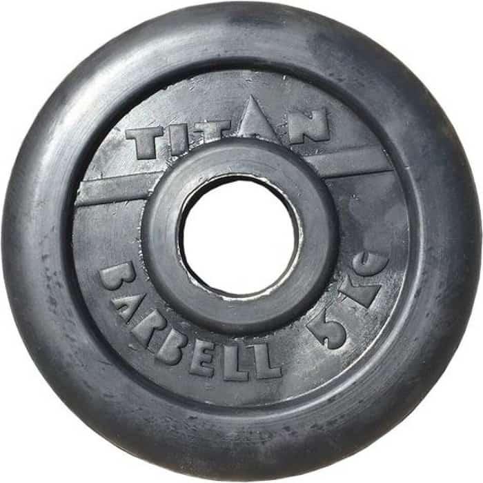 Диск обрезиненный Titan 51 мм. 5 кг. черный