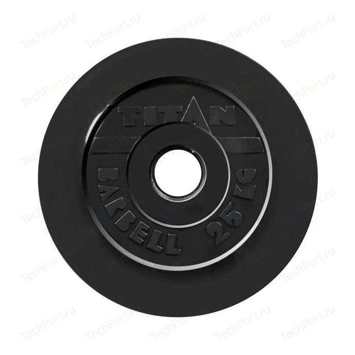 Диск обрезиненный Titan 51 мм. 25 кг. черный