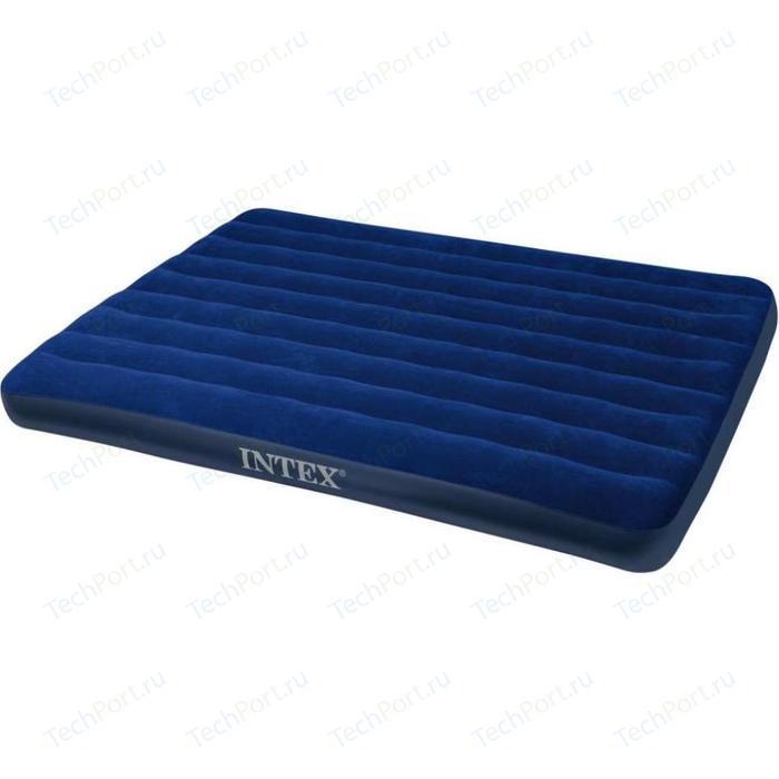 Надувной матрас Intex 152х203х22см синий (68759)
