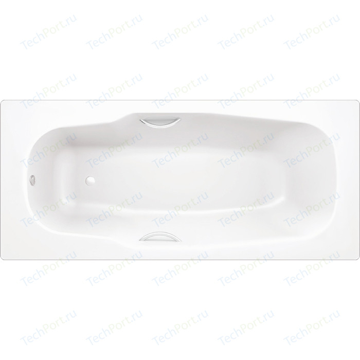 Ванна стальная BLB Atlantica HG 170х80 см 3.5 мм с отверстиями для ручек с шумоизоляцией (B70JTH001) стальная ванна 180х80 см blb atlantica b80a
