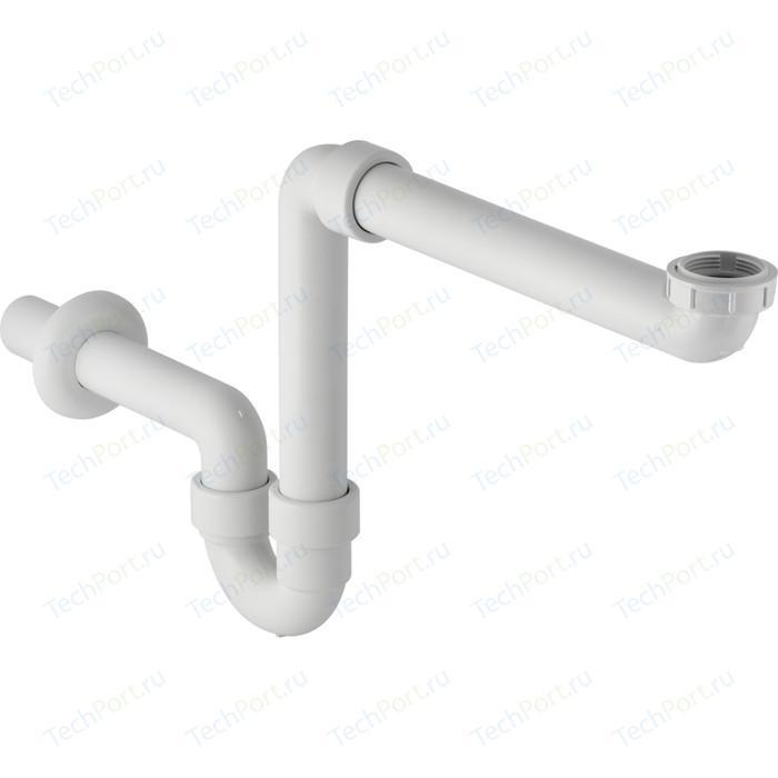 Сифон для мебельной раковины Geberit универсальный, накидная гайка 1 1/4 и 1/2, белый (151.107.11.1)