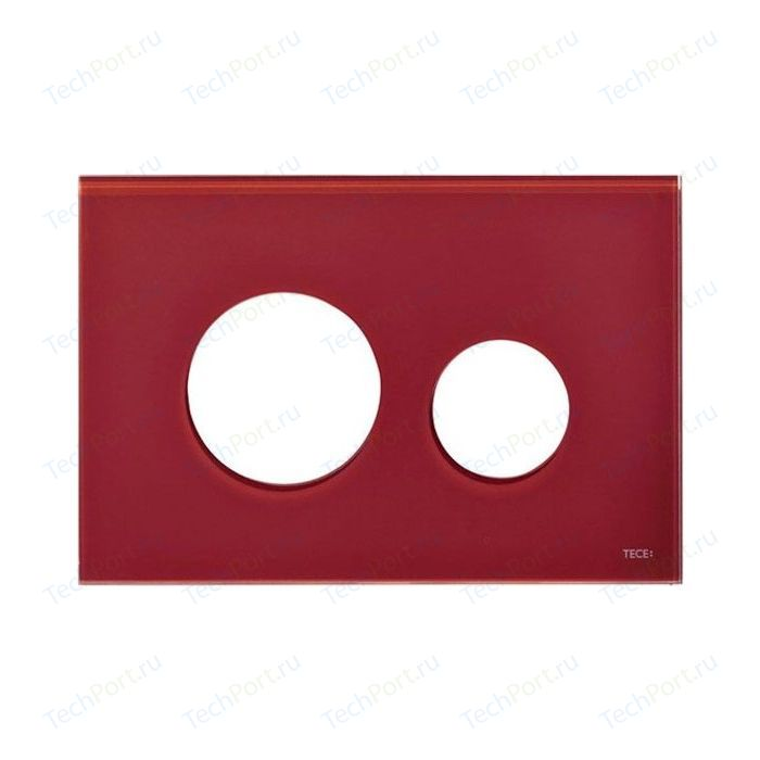 Панель смыва TECE Loop Modular без клавиш стекло рубиновый (9240679)