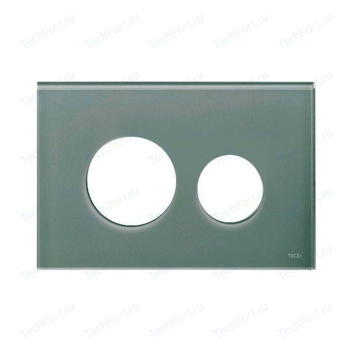 Панель смыва TECE Loop Modular без клавиш стекло, серо-голубой (9240677)