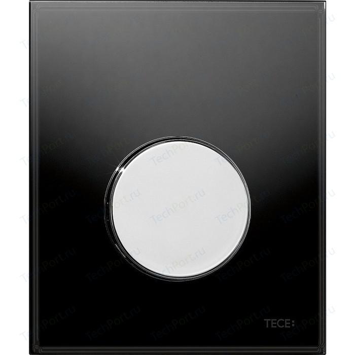 Панель смыва TECE Loop Urinal стекло черное, клавиша хром глянцевый (9242656) клавиша смыва tece loop 9242656