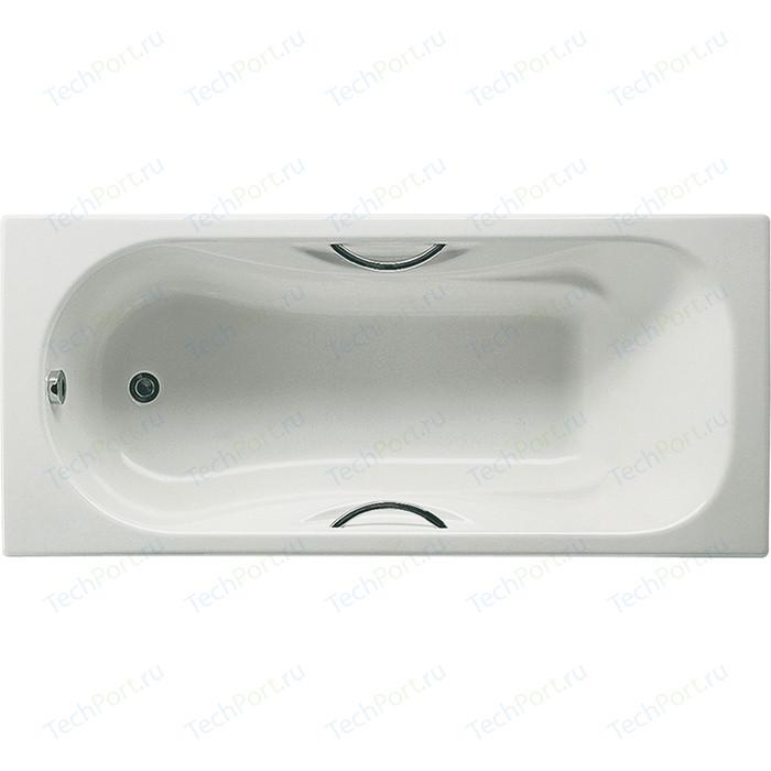 Чугунная ванна Roca Malibu 160x75 Antislip, с отверстиями для ручек (A2310G000R)
