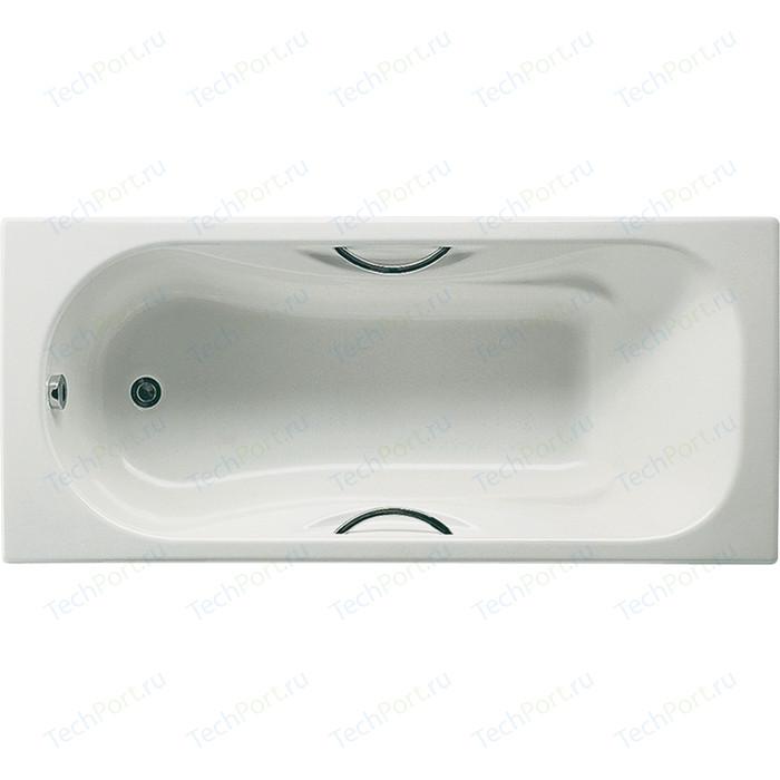Чугунная ванна Roca Malibu 160x70 Antislip, с отверстиями для ручек (2334G0000)